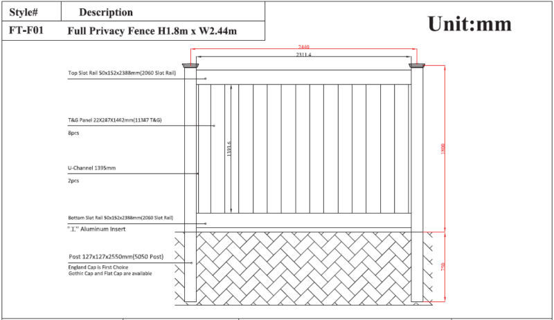 High Strength Top Wall Fence Decorative Villa Fence