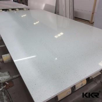 Pure White Stellar Grey Quartz Stone Prefab Vanity Ocean
