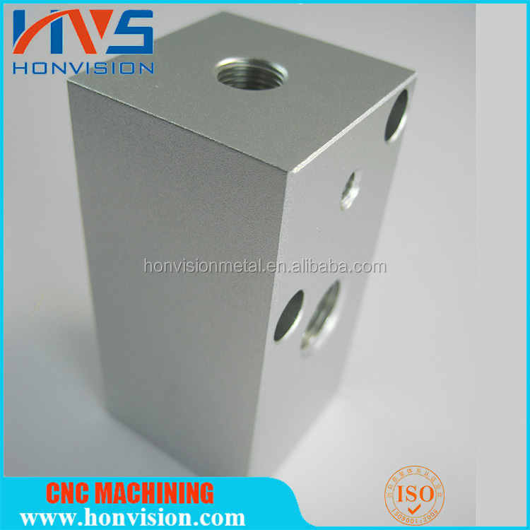 Medical device components of high precision aluminium CNC milling slide guide block