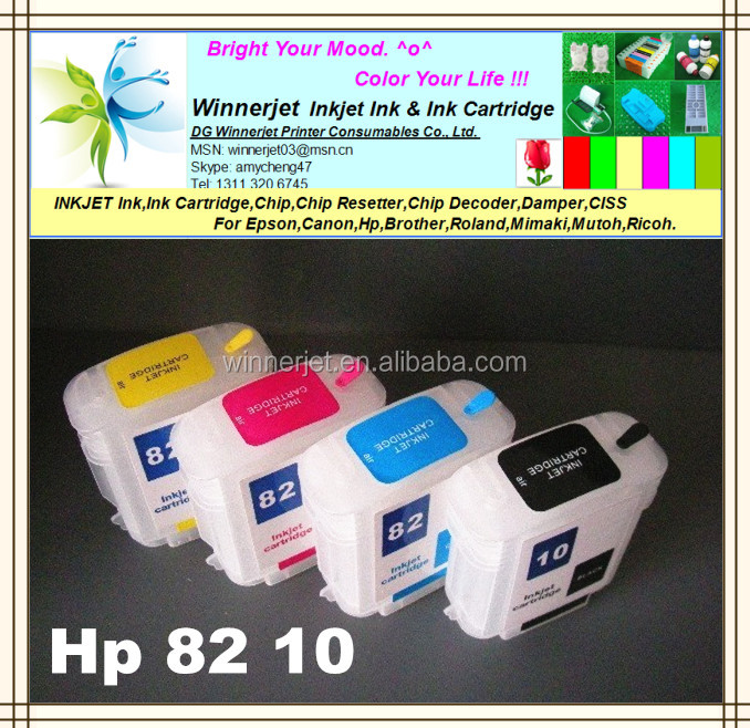 Compatible For Hp 82 10 Ink Cartridge For Hp Designjet 500/800/510 Printer