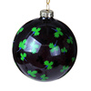 Fashional black glass blown Christmas ball ornaments bulk