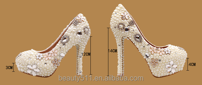 lace shoes women wedding ladies shoes WS004 platform high shoes handwork crystal heel fTanZxf