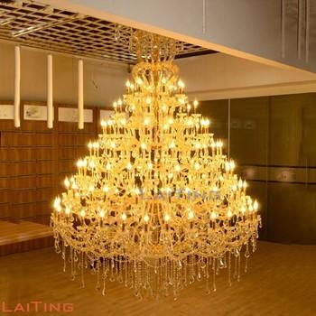 Banquet wedding hall lighting big size luxury ceiling victorian banquet wedding hall lighting big size luxury ceiling victorian chandelier gold crystal lamp 8036 aloadofball Choice Image