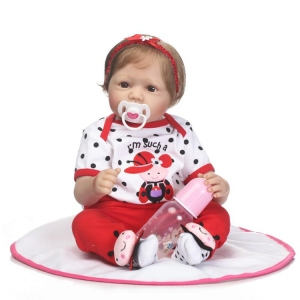 NPK new Simulation Babydoll soft touch reborn doll Handmade Collections Living doll Gift for children on Christmas