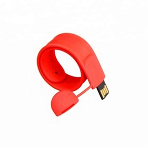 Silicone Slap Bracelet Customized USB Flash drive 2gb Cheap Wristband Pendrive 8gb 16gb for Advertising Gift