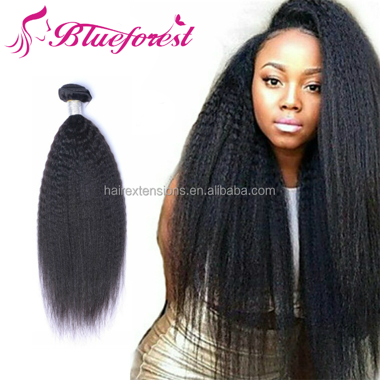 Unprocessed 100% Peruvian <strong>Human</strong> Weave 9A 10A Natural Color Kinky Straight Weave