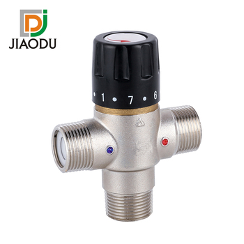 "1/2"" Brass Thermostatic Shower Mixer Valve Solar Electrical Hot Water Thermostatic Mixing Valve"