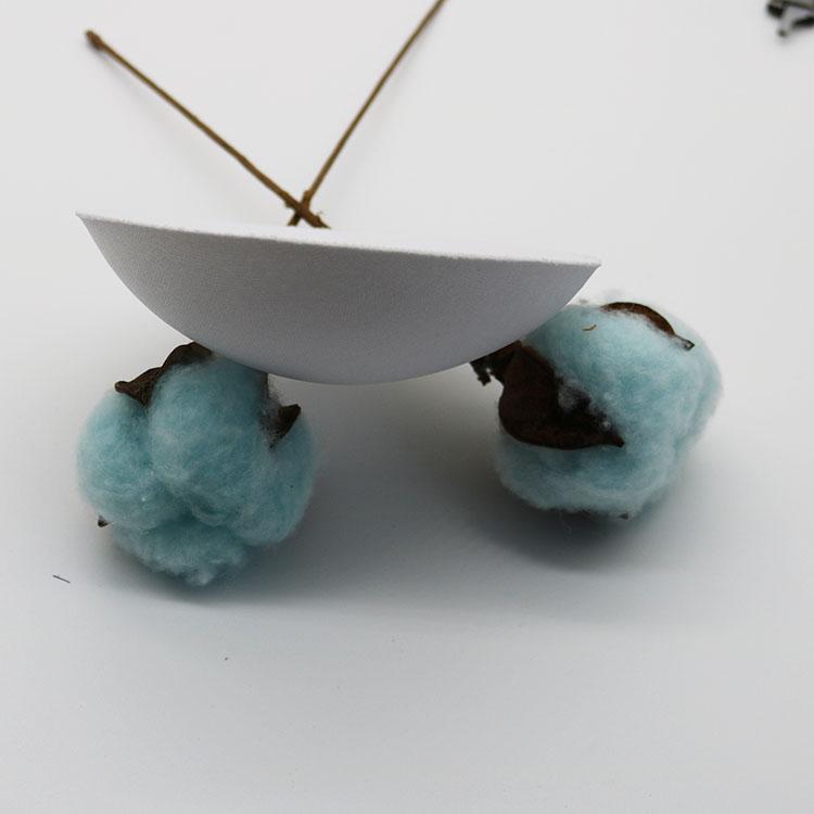 Fábrica Personalizar Rodada Almofada do Sutiã de Espuma Cinza Prata Ajustável Swimwear Rodada Almofada do Sutiã