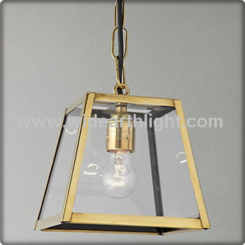 ul cul listed square brass sides glass light pendant kitchen with metal chain c30121 buy glass. Black Bedroom Furniture Sets. Home Design Ideas