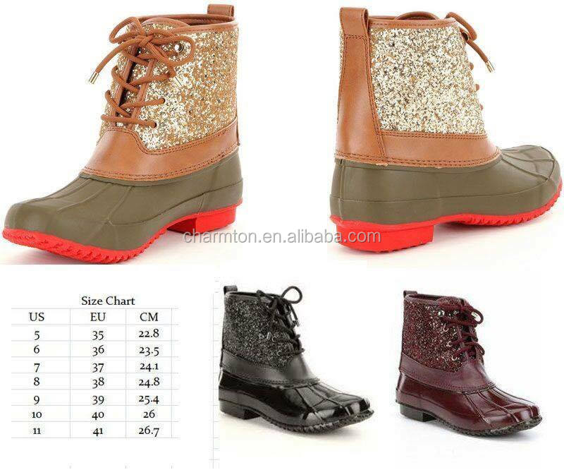Stormie Glitter Duck Boots