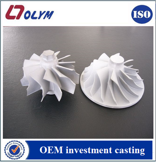 Customized stainless steel investment casting pump impeller parts