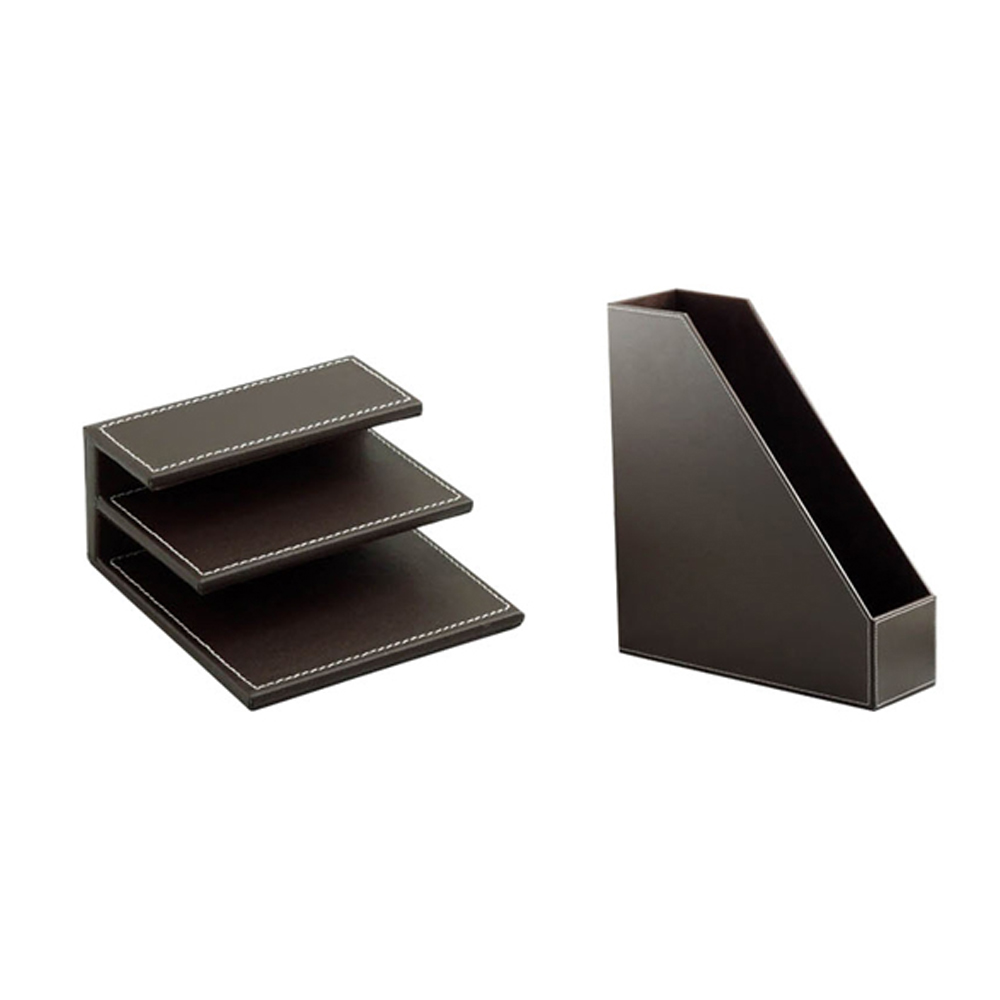 Office custom luxury PU leather stationery set