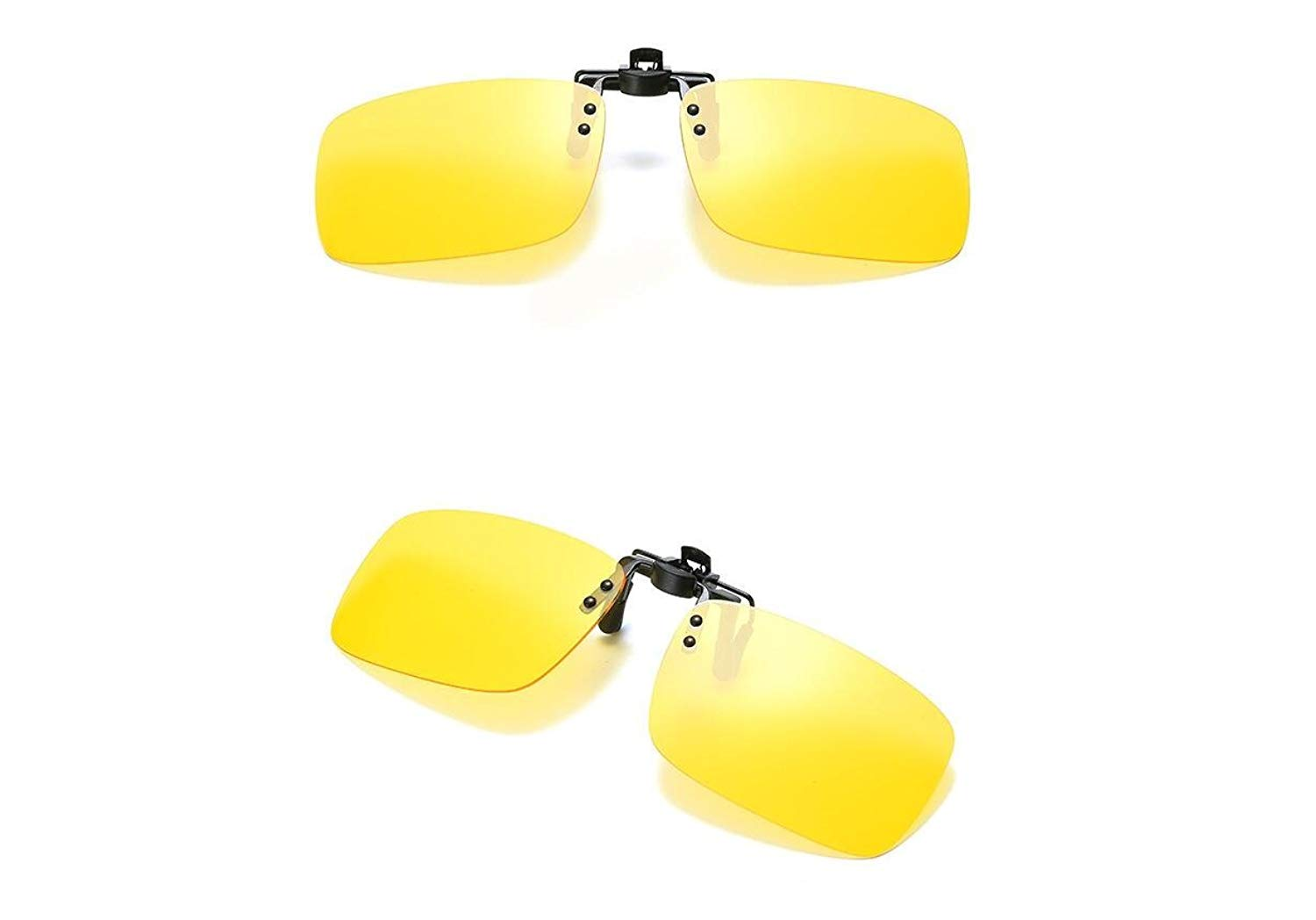 3237d8e978ef Get Quotations · 2PCS Polarized Day Night Vision Flip-up Clip-on Lens  Driving Glasses Sunglasses