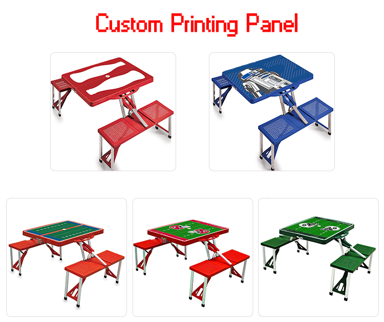 Wholesale Outdoor Furniture Portable Plastic Folding Picnic Table,Camping Table With 4 Sets