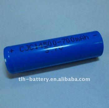 750mah 3.7v Li-ion Aa Battery For Led Flashlight