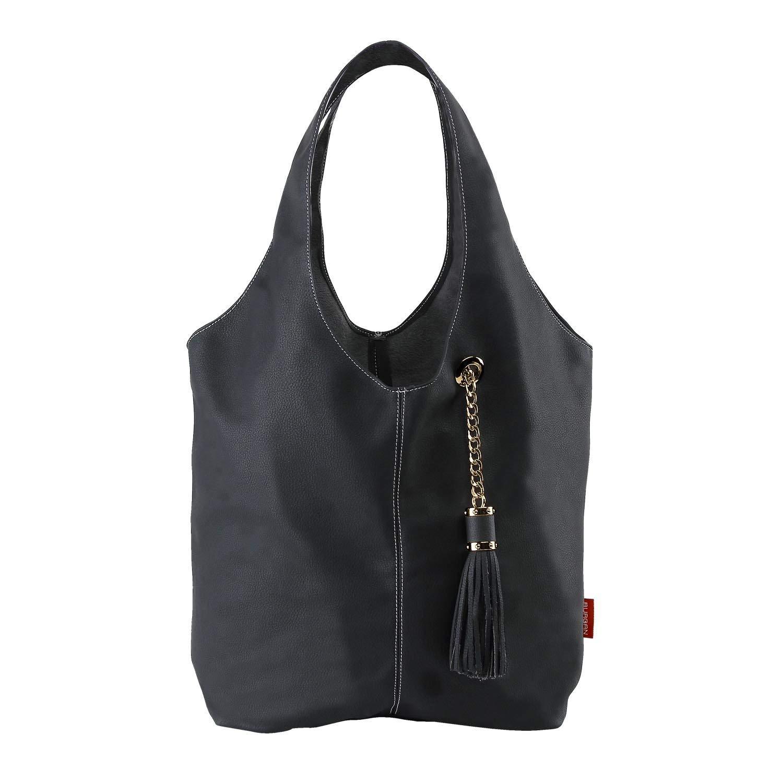 06e9b9b124 Get Quotations · BURGAN Magnus Unlined Hobo - Leather Shoulder Handbags