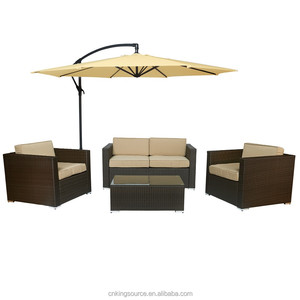 outdoor garden KD rattan sofa set KS-RS016