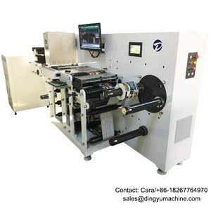 DYLI-450 Sticker Paper Label Inspecting Machine With Slitting System