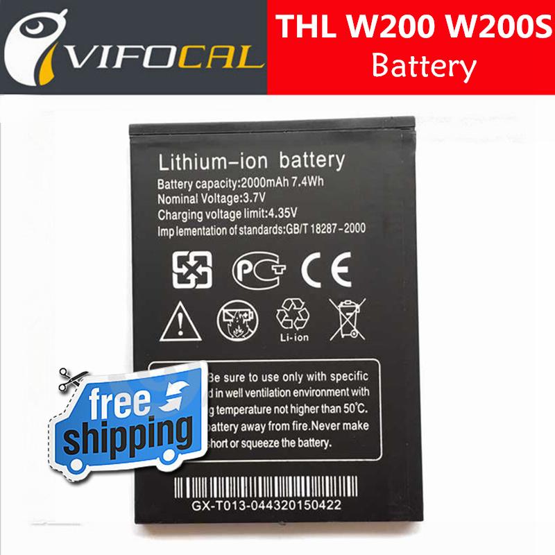 Thl W200S батарея 2000 мАч 100% первоначально замена аксессуар для ThL W200 W200C сотовый телефон + в наличии + бесплатная доставка