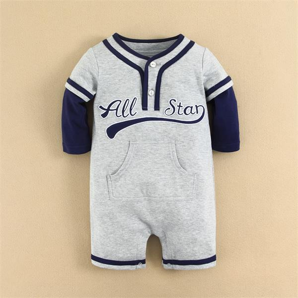 Spring Autumn Baby Boy Clothes Plain Baby Romper Plain Design for Boy