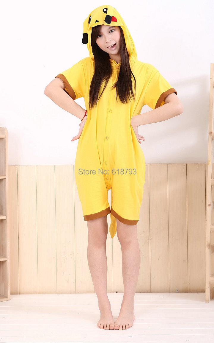 7bede9b8f69 Pokemon Pikachu cosplay short sleeve yellow costume sleepwear Pokemon  lovely moe cosplay for girls KD004