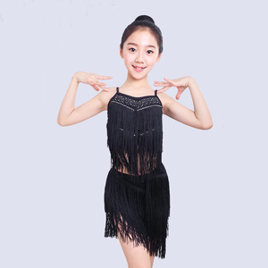 2019 Sling gilr black girls dance stage costumes performance dress