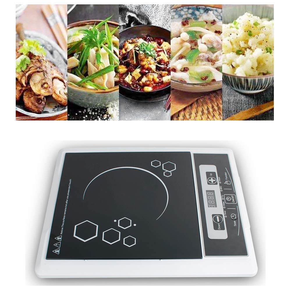 Funwill Electric Burner Induction Cooker, 110V 2000W Multifunction Digital Portable Induction Cooker Cooktop Countertop Burner, Electric Sensor Touch with 5 Power Level, Black - SHIPPING FROM USA