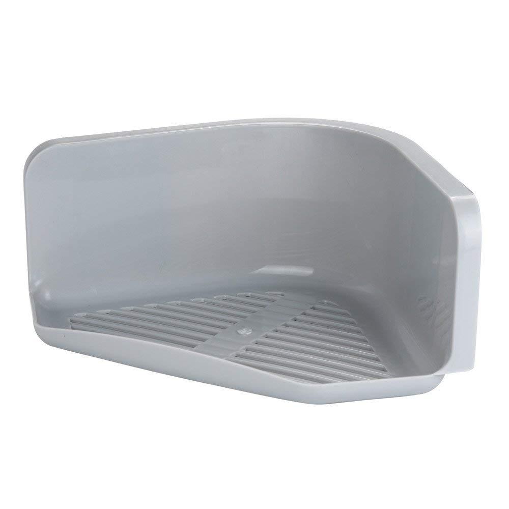 QuteFree Home Decoration Shower Soap Holder Suction Cup for Bathroom Plastic Shower Shelf Corner Storage Rack Kitchen Caddy Tool Organizer