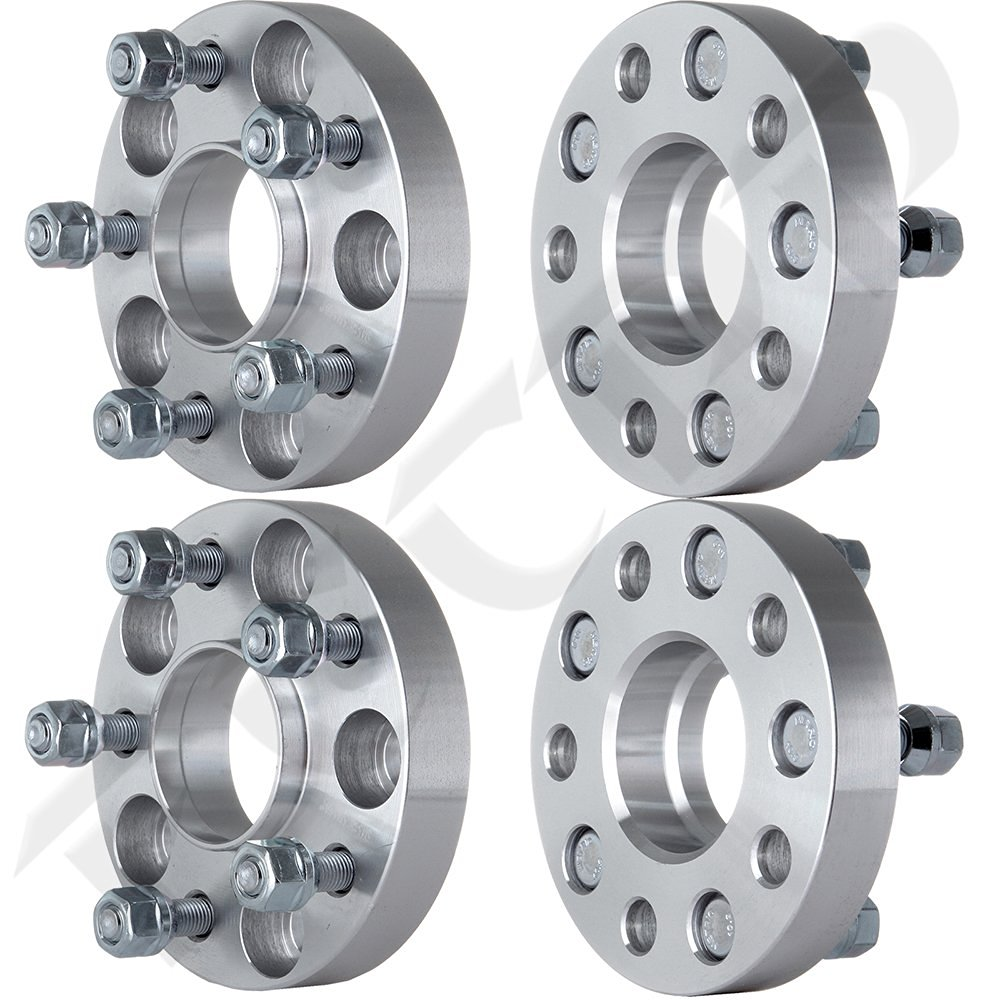 SCITOO 5 Lug 1.25 inch 5x4.5 to 5x4.5 Hubcentric Wheel Spacers Adapters 5x114.3 1//2 Studs 70.5mm Hub Compatible with Ford Mustang Edge Bronco Mazda