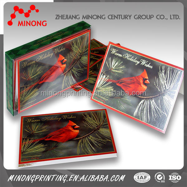 Hot selling good quality customized handmade greeting cards for new year