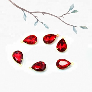 New design flatback crystal sew on stones teardrop shaped glass rhinestone for clothes