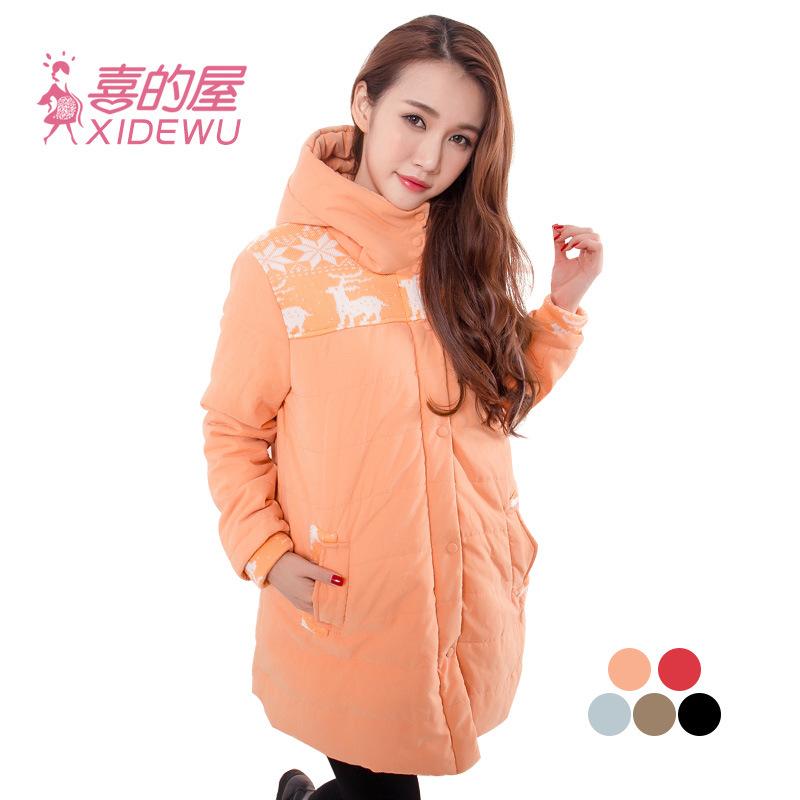 Для беременных закрытый воротник хлопок одежда точек пальто толстый тёплый куртка пальто зима - корейский издание 1603