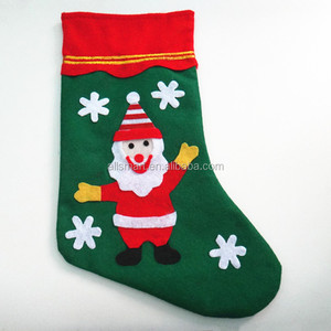 Gift Filler Green Christmas Stocking Sock With Snowman Christmas Decor