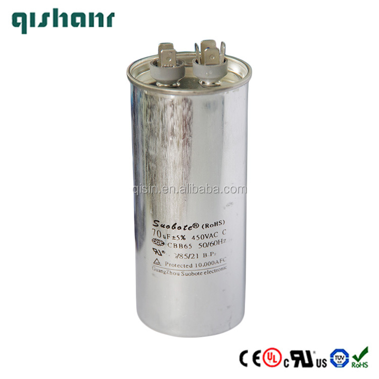 CBB65 70uF 450VAC 50/60Hz AC Run and Start Capacitor for Air Conditioner