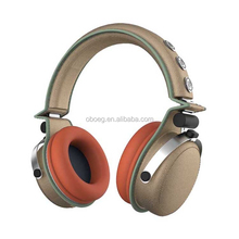 Metal Cloth materials Noise Cancelling,Microphone Function and selectable Connectors High Solid Headphone