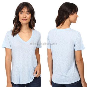Wholesale Cheap T Shirt Ladies Short Sleeve 50 Pima Cotton 50