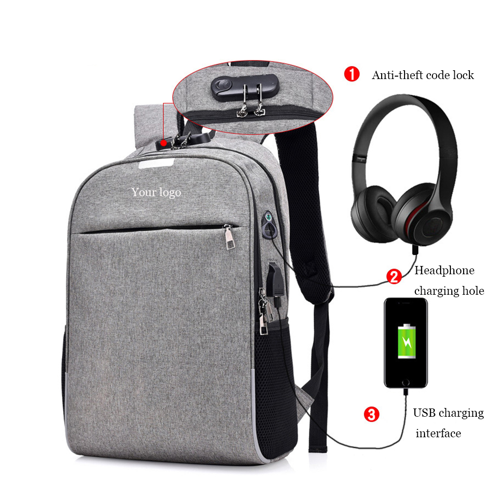 CYSHMILY Password lock waterproof laptop <strong>School</strong> Anti Theft USB Charging Backpack