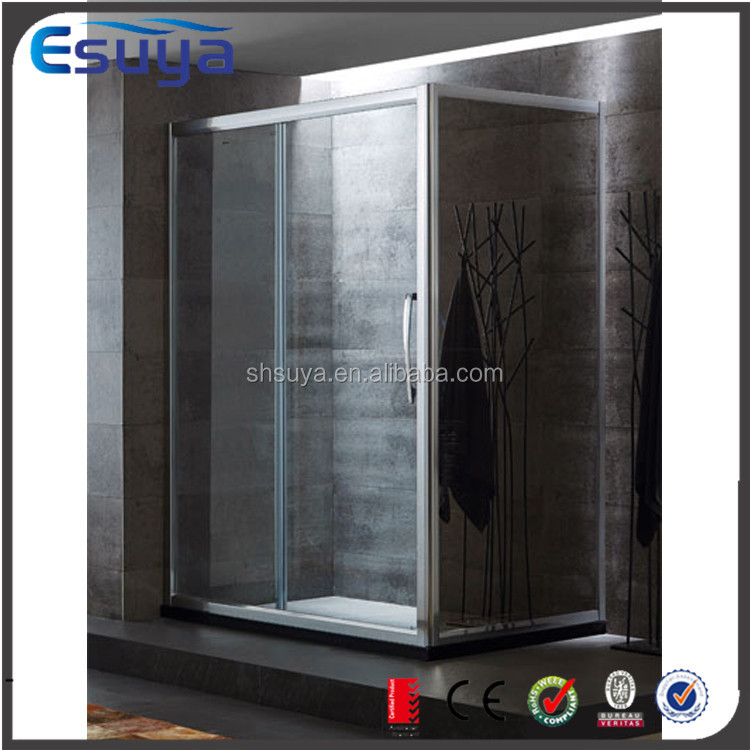 Shanghai Esuya 8mm tempered glass double opening available curved dubai shower room sliding door