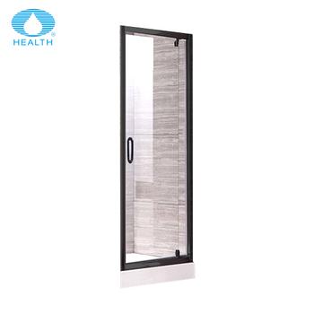 Black Framed Aluminum Shower Doors With Pivot Hinge - Buy Zinc Alloy ...