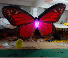 Big inflatable butterfly model with colorful led light wings for decorations or events