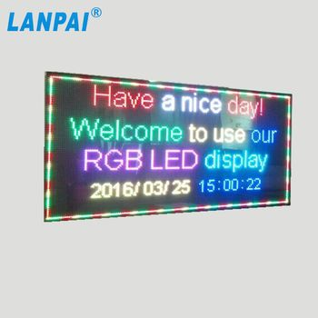 LANPAI direkter Hersteller Indoor LED Signs Programmierbare Scrolling Message Display Board Preis