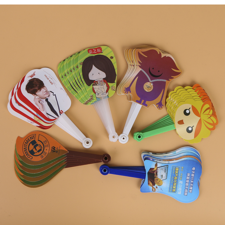 Custom cartoon folding plastic hand fan