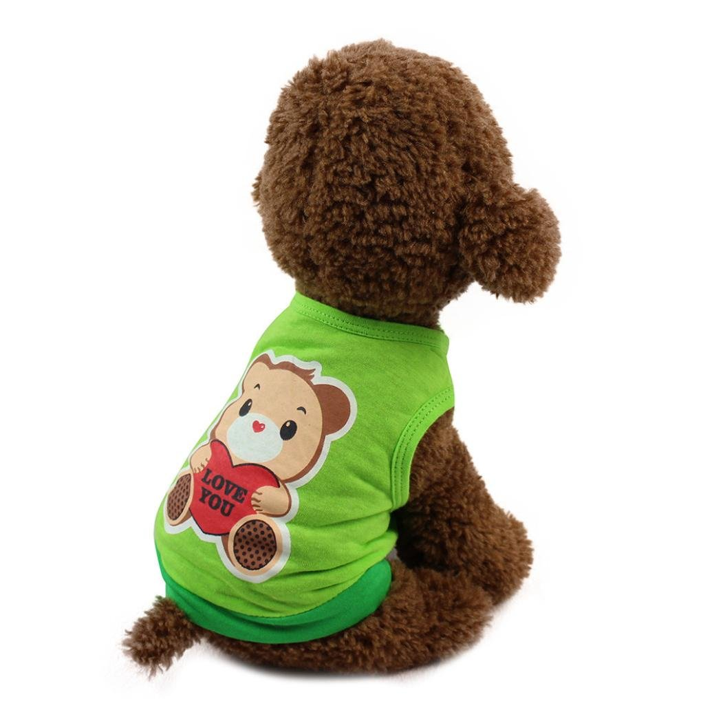 Pet Shirt, Paymenow Soft Puppy Pet Vest Summer Sweatshirt Cute Animals Love You Print Dog Clothes T Shirt for Dog
