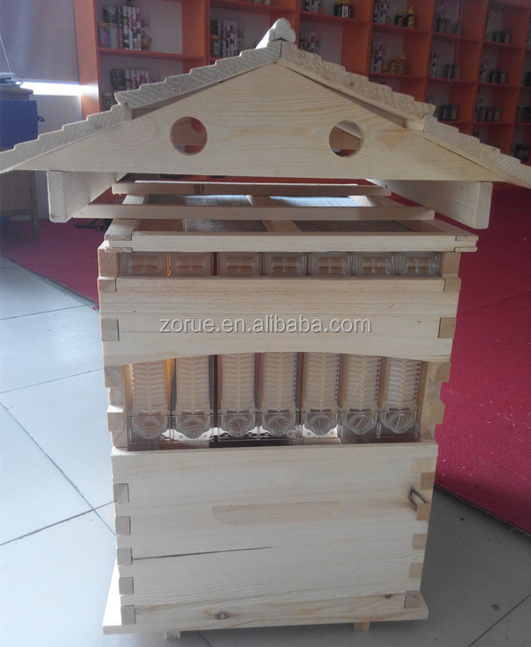 two layer langstroth wooden automatic hive flow for new beekeeper