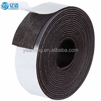 Cheap custom made strong force anisotropic magnetic strip tape with self adhesive