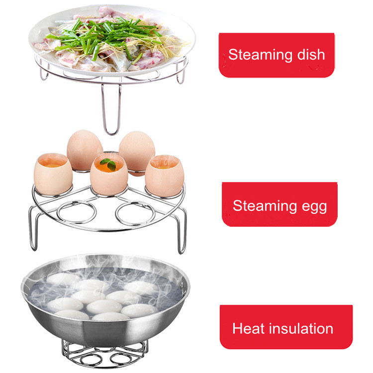 None//Brand Rejilla de Acero Inoxidable para Cocinar Huevos al Vapor Huevo Soporte Rejilla Vapor Cocinar Accesorio Olla a Presi/ón