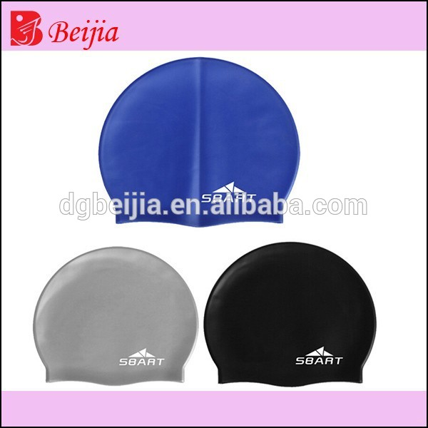 Fashionable Quality Adult/Kid sizes customized logo printed waterproof silicone swimming cap