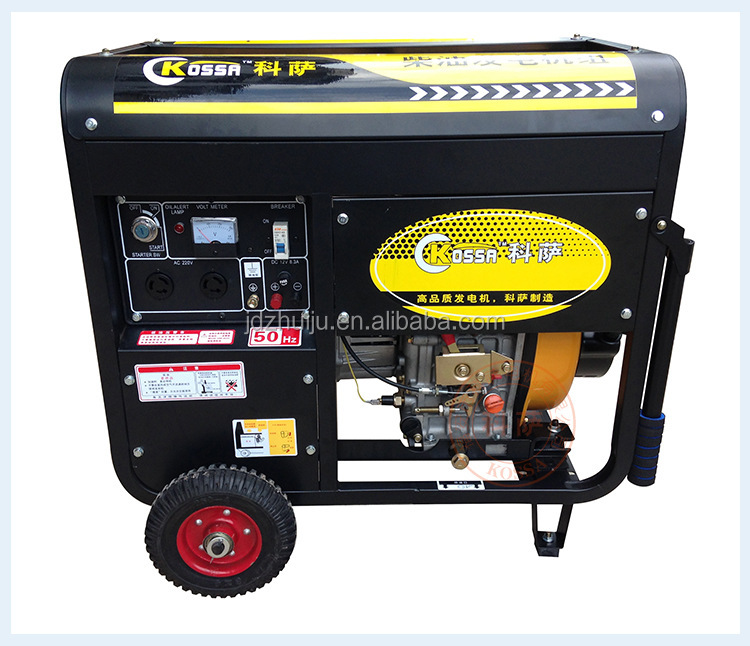 Electric starter 6kw super silent generator diesel/diesel generator price in india HJ-D6000E