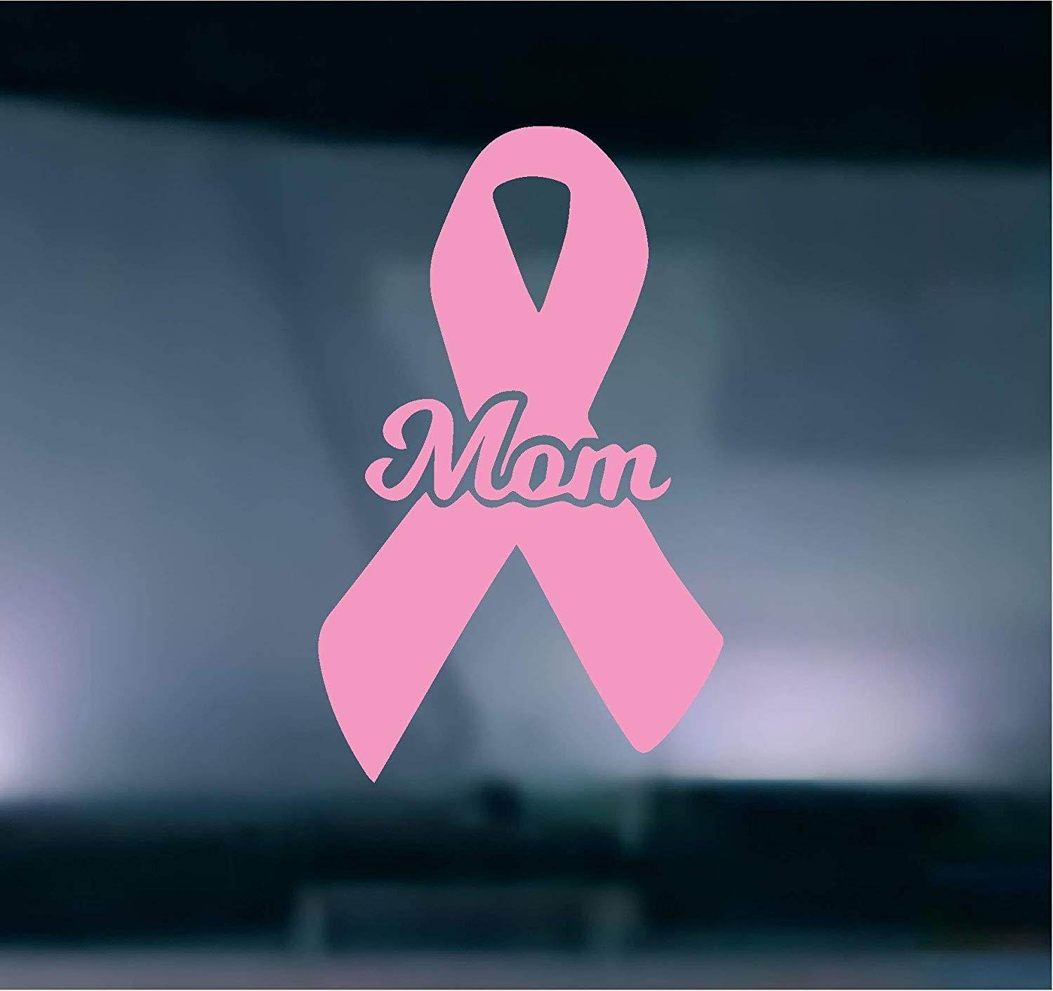 (2) TWO - Breast Cancer Mom Vinyl Graphic Decal Sticker Vehicle Car Truck Window Wall Laptop Cooler - High Quality Outdoor Rated Vinyl + FREE DECAL