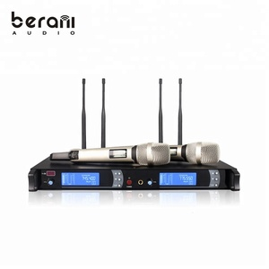 BKM9000 Professional uhf wireless karoke ktv microphone system 100 meters long range mic set